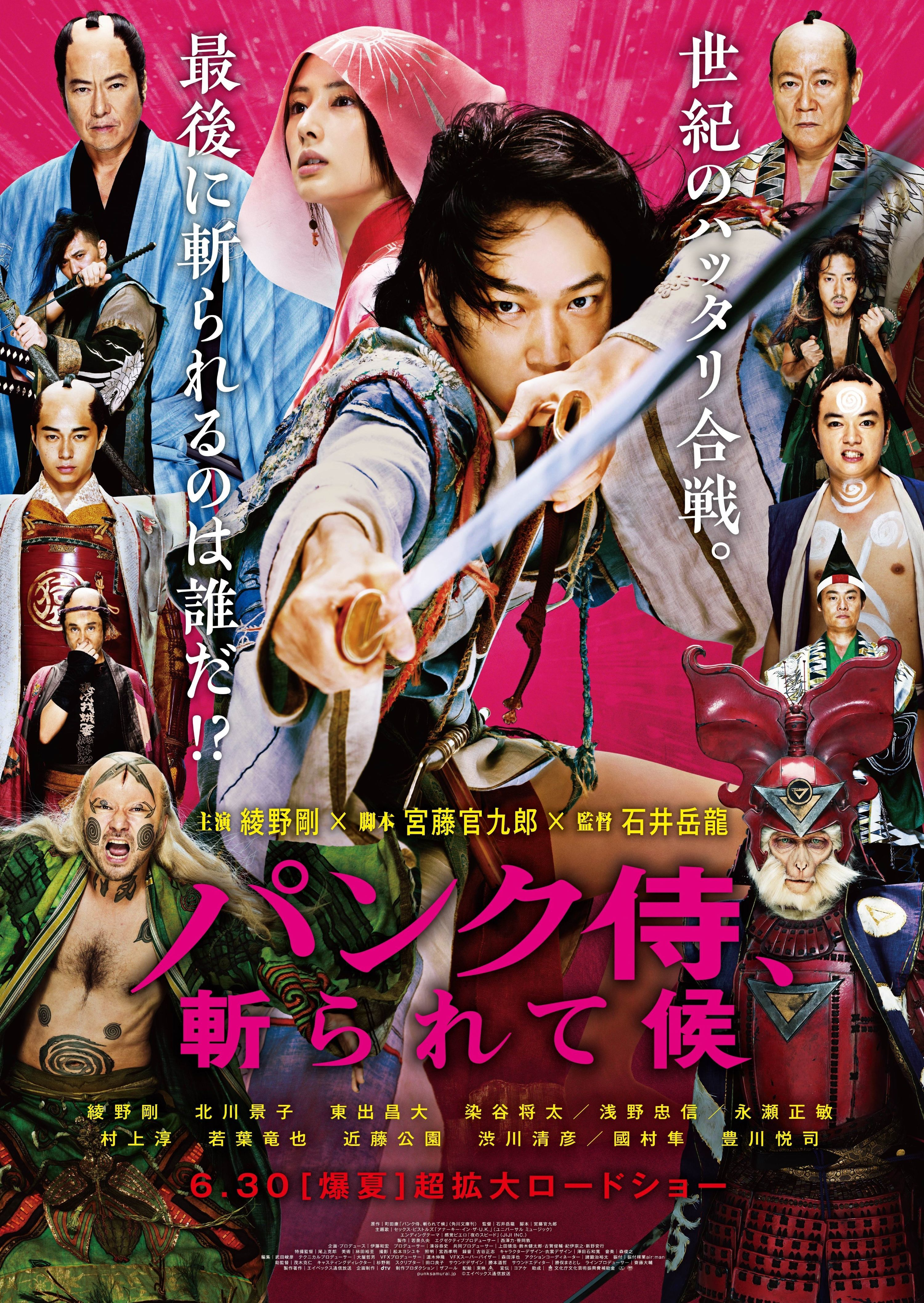 affiche PUNK SAMURAI SLASH DOWN