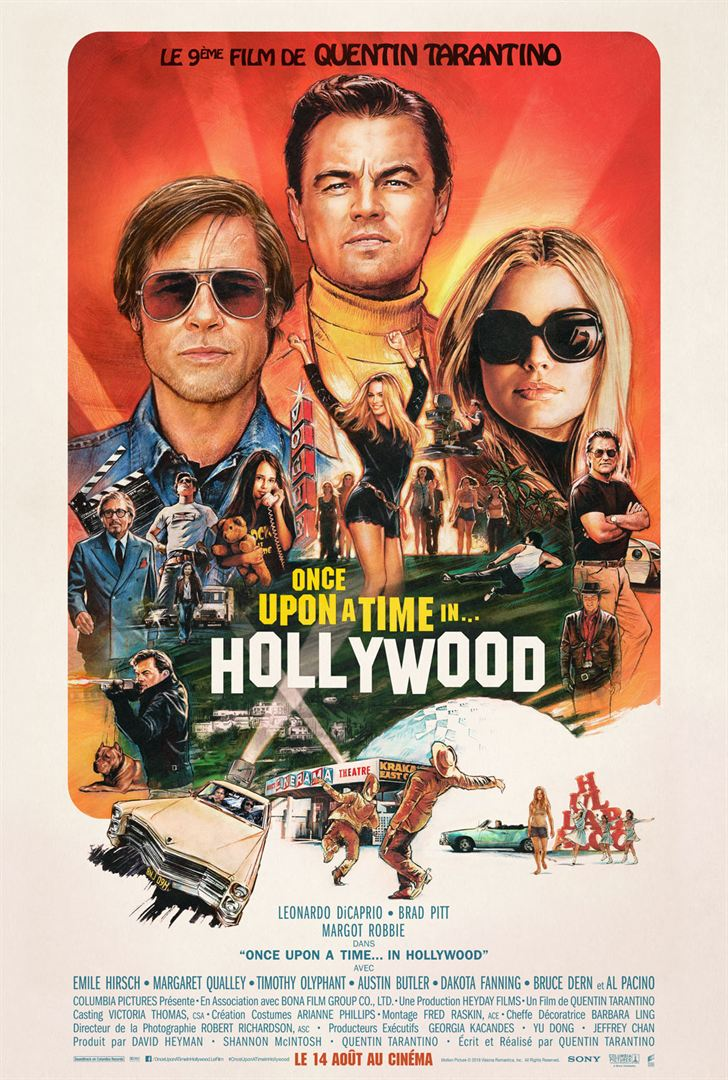 affiche Once Upon a Time... in Hollywood (projeté en 35mm)